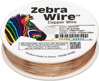 Zebra 涂层天然铜线 26 号 115 码 1/4 磅线轴