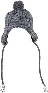 The Worthy Dog Toboggan 帽子,舒适、温暖、亚克力帽子可爱配饰,适合宠物猫和狗,适合小号、中号和大号犬 - 灰色