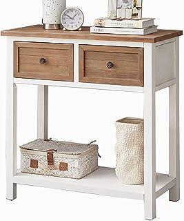 DYH 带抽屉控制台 农舍沙发桌 客厅/走廊 窄木玄关桌 带储物架