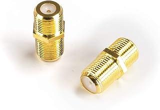 THE CIMPLE CO - 电缆扩展耦合器 | 连接两个同轴视频电缆,用于同轴 F81(母对母)3GHz Satellite、有线电视和有线网络评级CMP-BRL-HQ-GLD-10P  每包10条