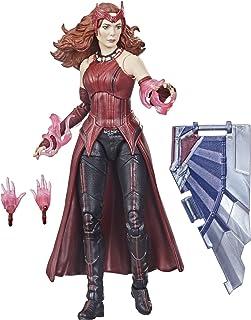 Hasbro 孩之宝 漫威传奇系列 复仇者联盟 6 英寸(约 15.2 厘米)猩红色女巫玩具手办,高级设计和 4 个配件,适合 4 岁及以上年龄的儿童