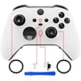 eXtremeRate 白色软触摸手柄面板盖,前壳外壳外壳替换套件适用于 Xbox One Elite 系列 2 控制器…