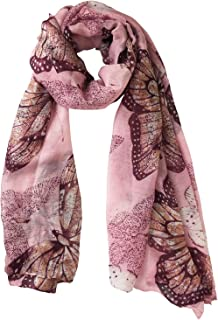 Block Garden 女式时尚豹纹围巾棉麻围巾披肩