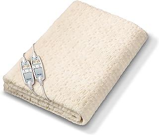 Beurer UB 86 Teddy 双人舒适保暖床垫,带泰迪熊毛绒,可单独调节热区域
