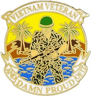 美国越南退伍军人 2.54 厘米翻领别针