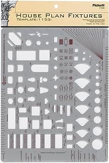 Pickett 等轴测六角螺母和头模板 6 House Plan Kitchen/Lavatory - 1/4 inch scale *灰色