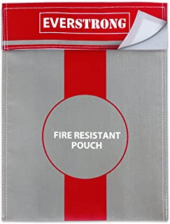 消防箱配件,15 x 11 英寸防爆防尘袋,适用于钱、护照、珠宝和重要文档,防火*、防火盒或防火* - 防火箱