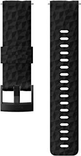 Suunto 颂拓 表带, 24 毫米,硅胶,黑色探索,M: 130-230 毫米