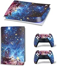 PS5 控制台和控制器皮肤适用于 Playstation 5 数字版本,太空 PS5 控制台和控制器皮肤乙烯基贴纸贴花盖