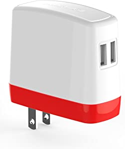 Honeywell UC530RUS 3.1 Amp Dual USB AC Charging Adapter (RED)