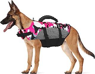 狗狗救生衣宠物*背心,可调节救生衣游泳背心,狗狗救生衣,适合游泳,反光保护带救援手柄,适合中小型犬和大型犬