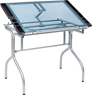Studio Designs 折叠工艺台 Silver / Blue Glass Silver,Blue 13220