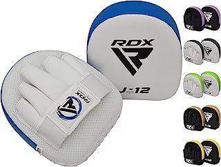 RDX 儿童拳击垫焦点手套 | 凸面皮弯曲青少年钩扣和钳子靶手垫 | 非常适合青年 MMA、武术、泰拳、踢拳和手拉训练 | 教练攻击盾