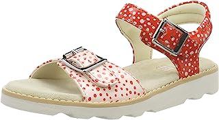 Clarks 女童 Crown Bloom K 露跟凉鞋