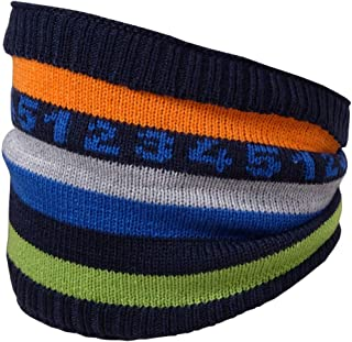 maximo 男婴管,带微笑和绒球围巾,蓝色(*蓝 48),(制造商尺寸:均码)