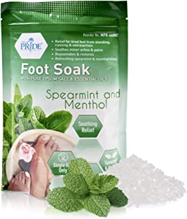 Medpride Epsom *沐浴盐,用于浸泡薄荷和薄荷精油- 缓解**浸泡- 家庭温泉身体护理缓解脚痛 - 自然软化和放松,舒缓和恢复 - 11.5 盎司(约 544.3 克)