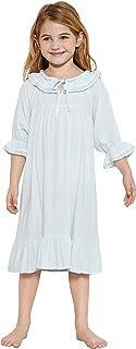 Orcite 女孩公主睡袍睡衣连衣裙蕾丝儿童幼儿睡衣 2-13 岁