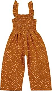 Tiacham 女童连身裤圆点印花套装一件式夏季工装裤宽腿可爱