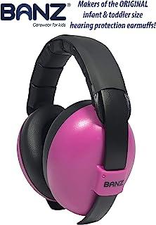 BANZ Baby 耳罩婴儿听力保护 – 适合 0-2 岁 – 婴儿和幼儿的*佳耳罩 – 行业领先的降噪等级 – 阻挡噪音洋红色