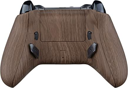 eXtremeRate Lofty 可编程重拍和触发停止套件,Mod Chips & 重新设计的后壳和侧轨和背按钮和触发锁,适用于 Xbox One S X 控制器 1708 - 木纹
