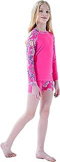 Ovovod 女童长袖泳衣两件套泳装,适合 4-14 岁 UPF 50+ UV *套装