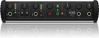IK 多媒体 AXE I/O - 高级 2 输入/5 输出音频接口,吉他音效建模,117 dB 动态范围,3 Hz 频率响应,含强大应用,黑色