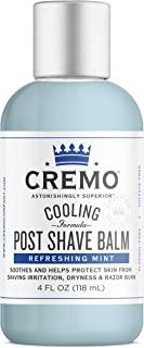 Cremo 清凉*后剃须膏,舒缓、冷却和保护皮肤免受剃须刺激、干燥和剃须*,4 盎司(约 113.4 克)