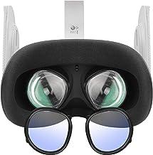 Esimen Oculus Quest 2 眼镜配件蓝色滤光镜框架,适用于Oculus Quest 2、Rift S 或 Oculus Go Insert 近视镜片框架(黑色)