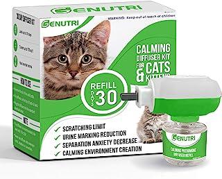 GENUTRI 猫咪舒缓扩散器和补充装 – 持久的法洛蒙猫咪舒缓零食 – 在家中持续舒缓和舒适 – *无*猫咪压力缓解