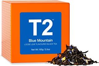 T2 Tea - Blue Mountain Black Tea, Loose Leaf Flavoured Black Tea in Gift Cube, 100g. 3.5oz