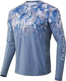 HUK 男式钓鱼 UPF 50+ 轻质标志 X 迷彩褪色长袖衬衫