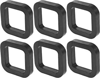 X AUTOHAUX 6 件方形 2 英寸(约 5.1 厘米)车载挂接接收器垫垫垫在接收器和可调节球座拖车挂接装置减少摇铃消除噪音