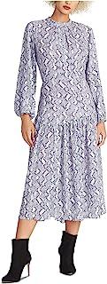 Rachel Roy 女式 Raegan 蛇形印花修身喇叭连衣裙