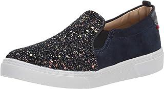 MARC JOSEPH 纽约儿童男孩/女孩皮革巴西制造豪华麂皮一脚蹬运动鞋