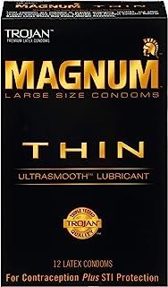 Trojan Magnum 超薄大号润滑避孕套,12 只