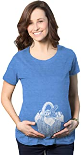 孕期复活节篮子肚子怀孕 T 恤可爱的婴儿派对公布