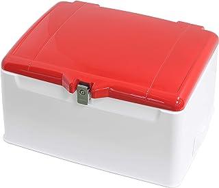 旭风挡 后箱 集配用脚轮 带盖子涂层 110-148L 大容量收纳 锅盖夜光红近似色/主体白 AB-5RD