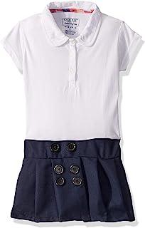 Cherokee 校服女孩 Polo 连衣裙带褶皱裙
