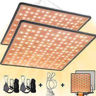 SEAMETAL 2 件装 LED 生长灯全光谱,45W 植物生长灯带红色光谱适用于室内栽培、温室、种植帐篷、水培、园艺