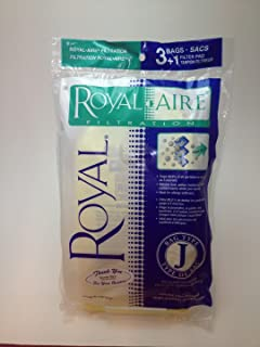Royal/Dirt Devil Type J Royal-Aire Micro-Filtration Vacuum Bags 3-467130-001-3 bags + 1 Filter - Genuine