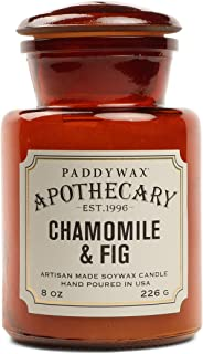 Paddywax Candles Apothecary 系列大豆蜡混合蜡烛,中号,8 盎司,洋甘菊和无花果