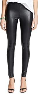 commando 女式完美控制人造皮革打底裤