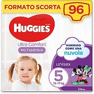 Huggies Ultra Comfort 尿布裤,尺寸 5(12-17 千克),96 件