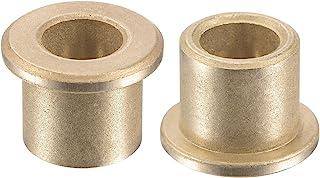 uxcell 法兰套筒轴承 8mm 孔径 12mm 外径 12mm 长 16mm 法兰直径 2mm 法兰厚度烧结青铜自润滑衬套 2 件