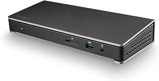StarTech.com Thunderbolt 3 扩展坞 - 双显示器 4K 60Hz TB3 笔记本电脑扩展坞,带显示端口 - 85W 功率输出充电 - 6 端口 USB 3.0 集线器,SD 4.0,GbE,音频 - Windows &...