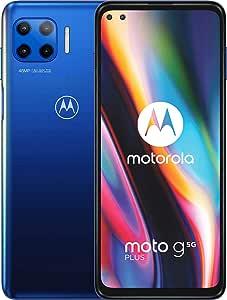 Motorola 5G Plus-智能手机128GB,6GB RAM,双Sim,蓝色