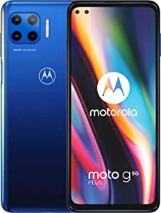 moto g 5G plus Dual-SIM Smartphone (6,7\-CinemaVision-FHD-Display, 48-MP-Vierfach-Kamerasystem, 128 GB/6 GB, Android 10) Blau inkl. Schutzcover [Exklusiv bei Amazon]