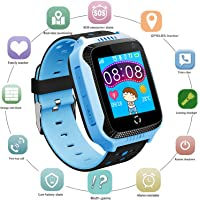 PalmTalkHome GPS 儿童智能手表 - 男孩女孩智能手表手机带 GPS/LBS 定位器 2 路来电 SOS…