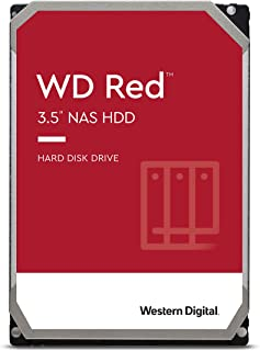 Western Digital Red 12TB NAS 内部硬盘驱动器-5400 RPM级,SATA 6 Gb / s,CMR,256 MB高速缓存,3.5英寸-WD120EFAX