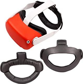 Topcovos 头垫适用于 Oculus Quest 2 头带重力减压头垫垫垫专为 Oculus Quest 2 耳机配件(黑色,Quest 2 硅胶头带)